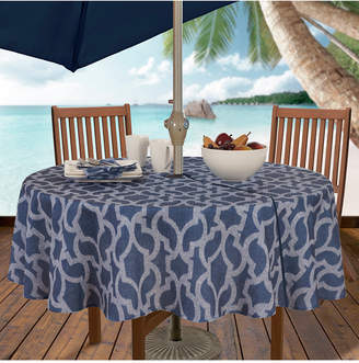 "Elrene Sydney Indoor/Outdoor 70"" Round Umbrella Zip Tablecloth"