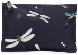 Valentino dragonfly print clutch