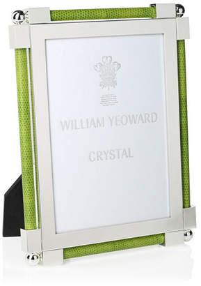 "William Yeoward 8"" X 10"" Shagreen Lime Green Frame"