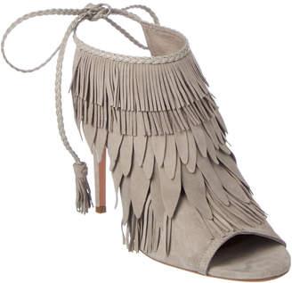 Aquazzura So Pocahontas 105 Suede Heeled Sandal