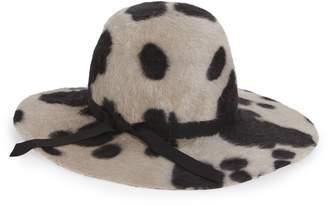 Gigi Burris Millinery Aliyah Cow Print Rabbit Fur Felt Hat