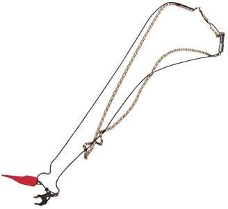 Lanvin Silver Metal Long Necklace