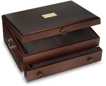 Reed and Barton Bristol Mahogany Flatware Chest