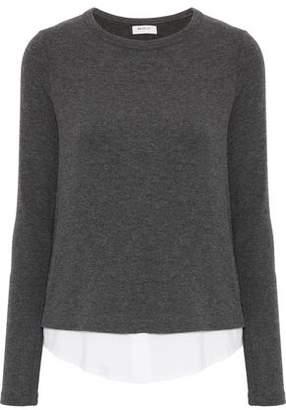 Bailey 44 Poplin-Paneled Knitted Top
