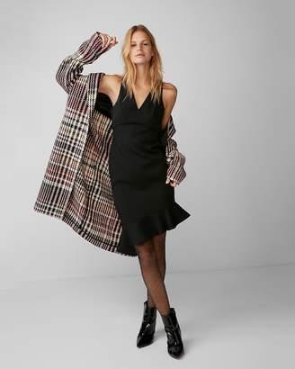 Express Asymmetrical Ruffle Mini Dress