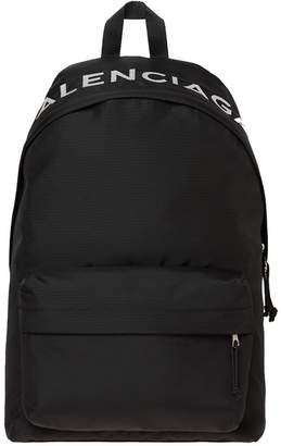 Balenciaga Nylon Sport Logo Backpack
