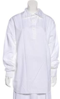 Dries Van Noten Long Sleeve Button-Up Top