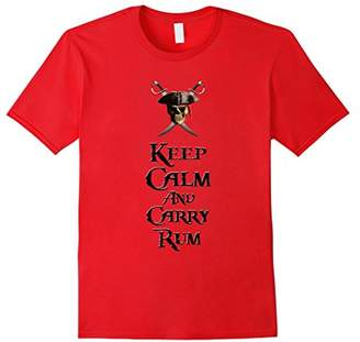 Keep Calm And Carry Rum Pirate Funny T-Shirt