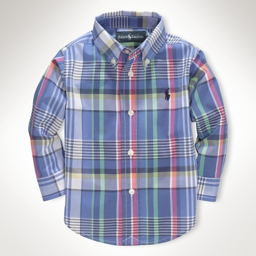 Blake Poplin Plaid Shirt