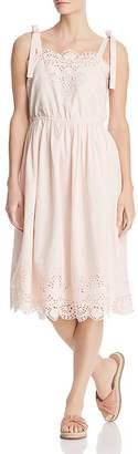 Catherine Malandrino Catia Eyelet Tie-Strap Dress