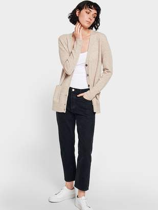 White + Warren Essential Cashmere Boyfriend Cardigan
