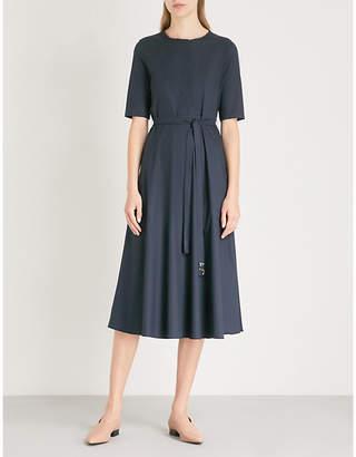 Max Mara S Ornella tie-waist stretch-cotton dress