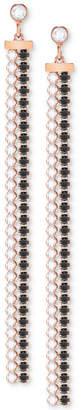 Swarovski Rose Gold-Tone Crystal Fringe Earring Jackets