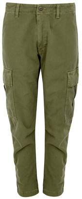 RE/DONE Army Green Twill Cargo Trousers