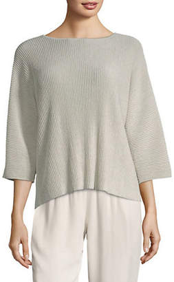 Eileen Fisher Shimmer Bateau Sweater