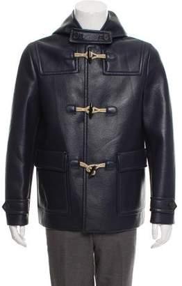 Prada 2017 Hooded Leather Coat