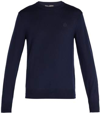 Dolce & Gabbana Crown-embroidered wool sweater