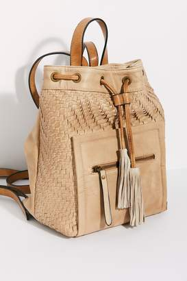 Veronica Woven Drawstring Backpack