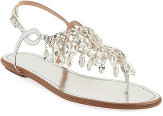 Aquazzura Temptation Crystal Flat Sandals