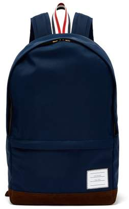 Thom Browne Logo Patch Nylon Backpack - Mens - Navy