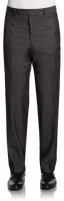 Calvin Klein Straight-Leg Woolen Trousers