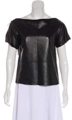Louis Vuitton Short Sleeve Leather T-Shirt