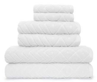 ADI Mabel 6 Piece Bath Towel Set in White