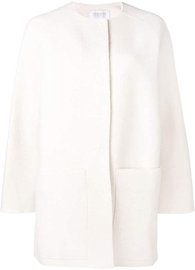 boxy single-breasted coat