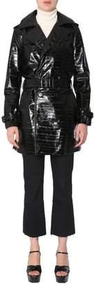 Saint Laurent Waist-Belt Quilted Trench Coat