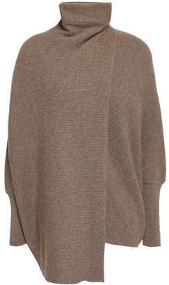Agnona Draped Melange Cashmere Turtleneck Sweater