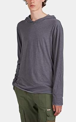 James Perse Men's Double-Layered Cotton Jersey Hoodie - Light Gray