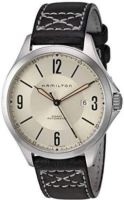Hamilton Men's Automatic Khaki Aviation Ivory Dial Leather Strap Watch