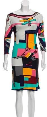 Emilio Pucci Printed Silk Shift Dress