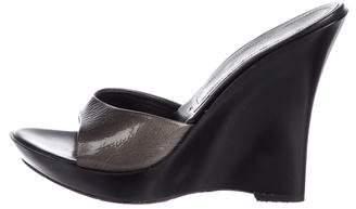 Casadei Platform Slide Sandals