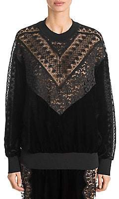 Stella McCartney Women's Velvet and Lace Sweater