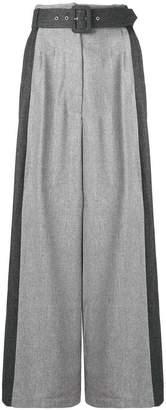Isa Arfen two-tone palazzo pants