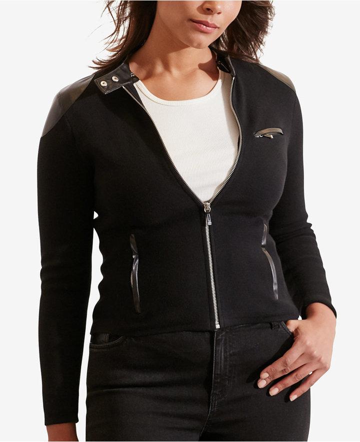 Lauren Ralph LaurenLauren Ralph Lauren Plus Size Stretch Moto Jacket