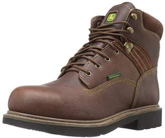 John Deere Men's 6 Brn Waterproof Steel Toe EH Farm/Wrk Work Boot