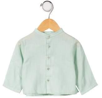 Marie Chantal Girls' Long Sleeve Button-Up Top