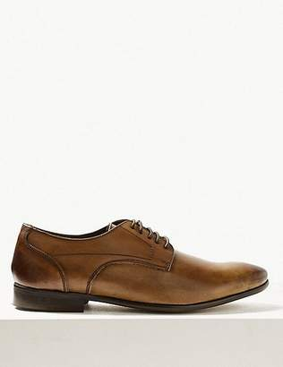 Marks and Spencer Leather Almond Toe Lace-up Derby Shoes