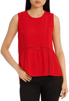 Top Ruffle with Trim