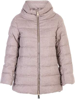 Herno Beige Zipped Padded Jacket