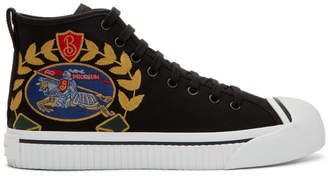 Burberry Black Kingly Big C High-Top Sneakers