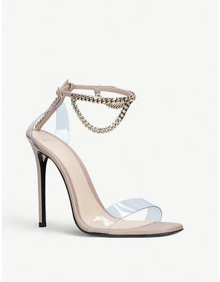 ALEVÌ Milano Ladies Nude Valentina Chain-Detail Leather and Plexy Sandals