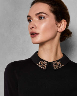 Ted Baker MOLIIEE Embellished collar sweater