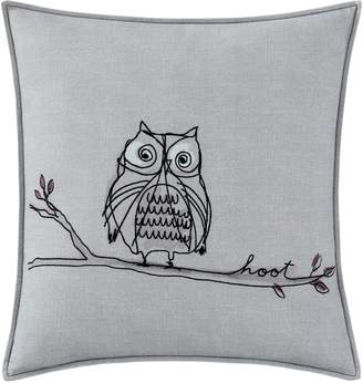 ED Ellen Degeneres ED by Ellen DeGeneres Boceto Grey Hoot Accent Pillow