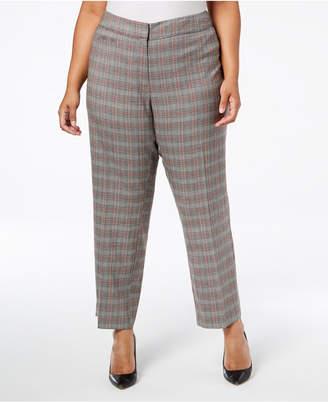 NY Collection Plus & Petite Plus Size Plaid Pants