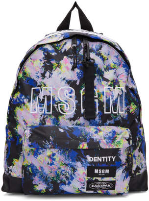 MSGM Multicolor Eastpak Edition Flowers Backpack