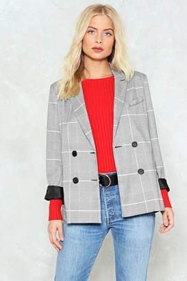 Nasty Gal Check Your Facts Blazer