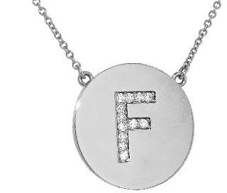Jennifer Meyer Diamond Letter Necklace - F - White Gold